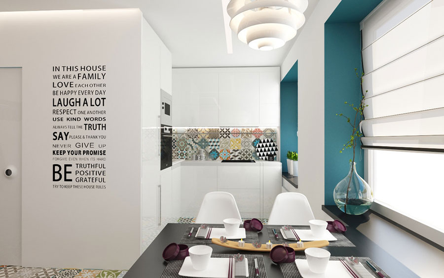 Arredamento per casa piccola in stile moderno n.10