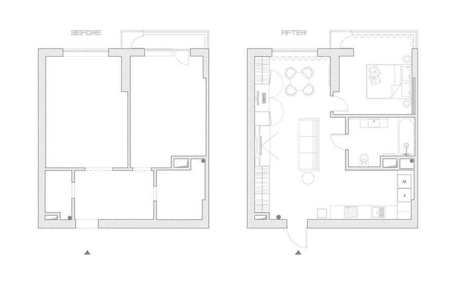 Arredamento per casa piccola in stile moderno n.13