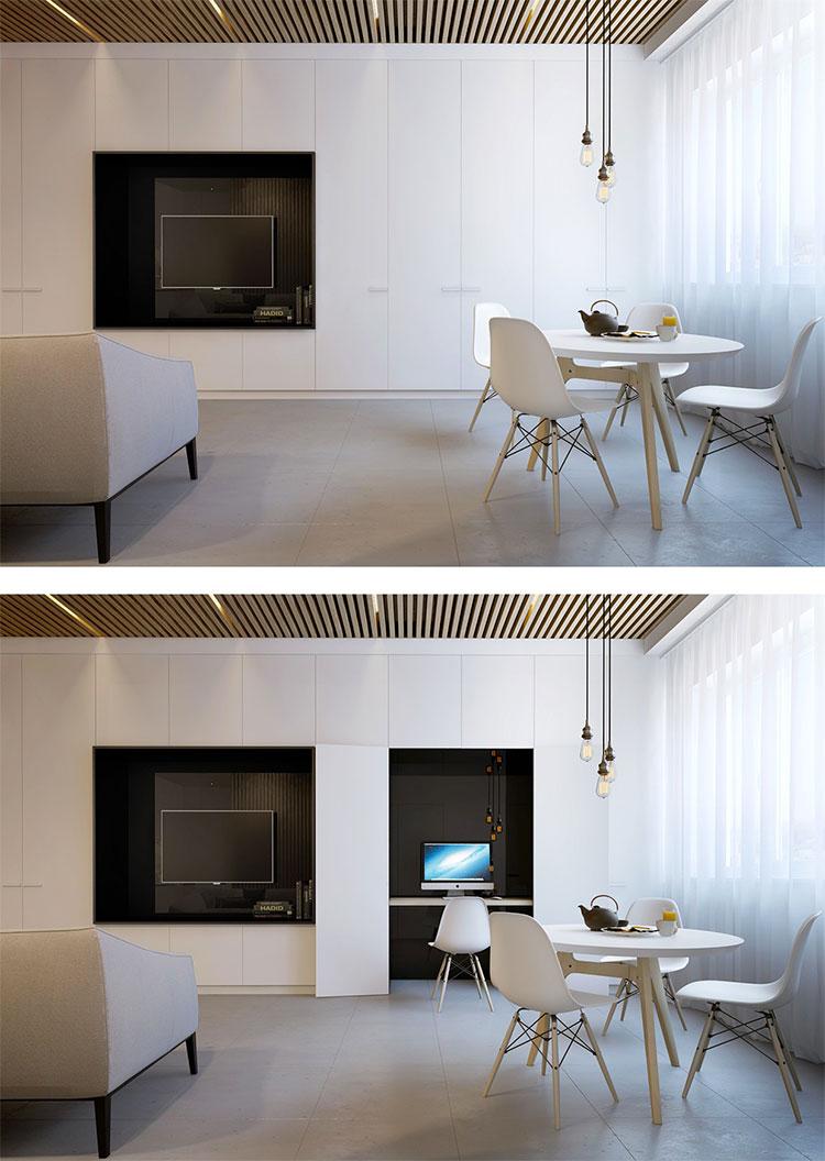 Arredamento per casa piccola in stile moderno n.15