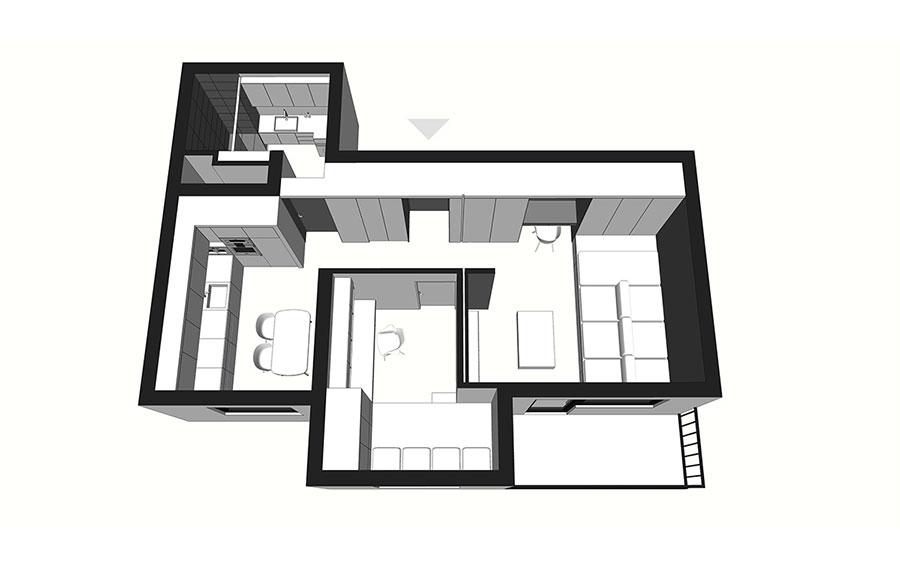 Arredamento per casa piccola in stile moderno n.18