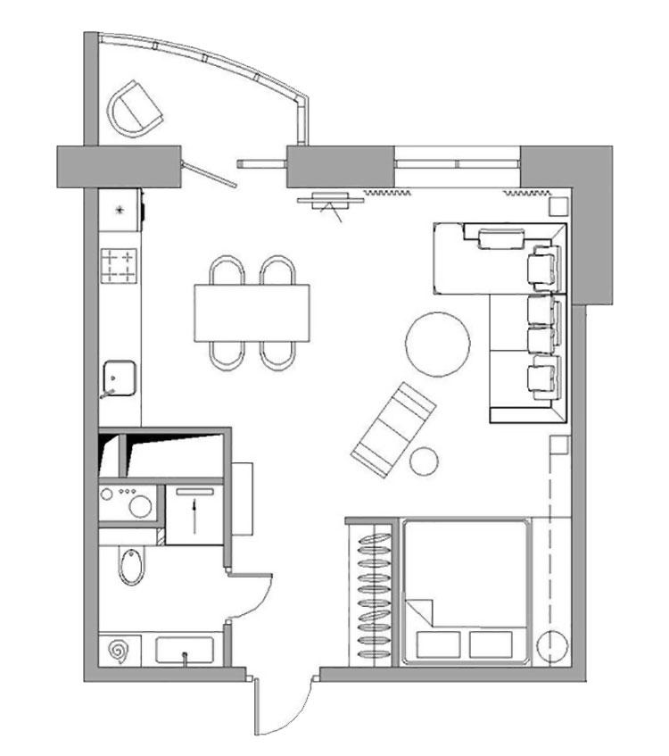 Arredamento per casa piccola in stile moderno n.25