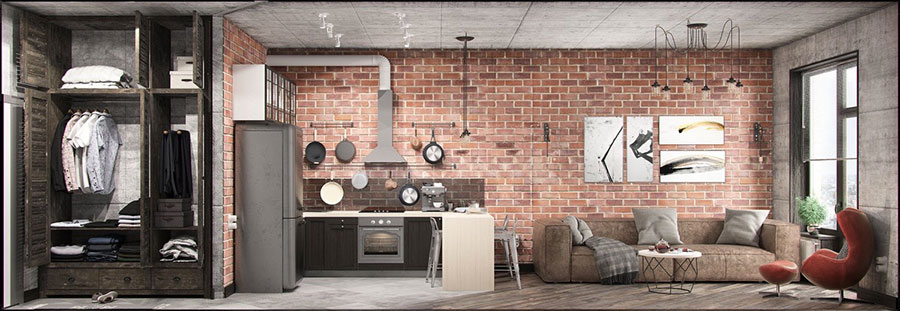 Come arredare una casa piccola in stile industriale for Appartamento design industriale