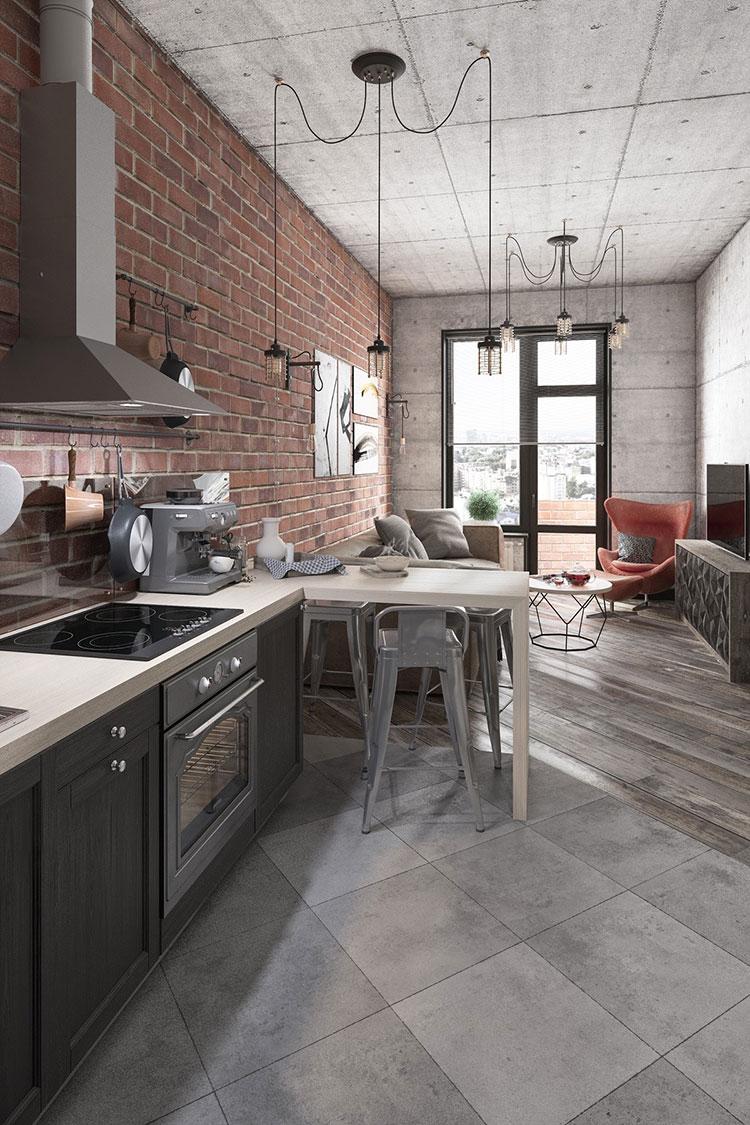 Come arredare una casa piccola in stile industriale for Arredare una piccola casa