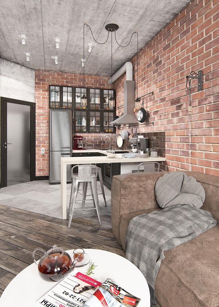 Idee per arredare una casa piccola in stile industriale n.04
