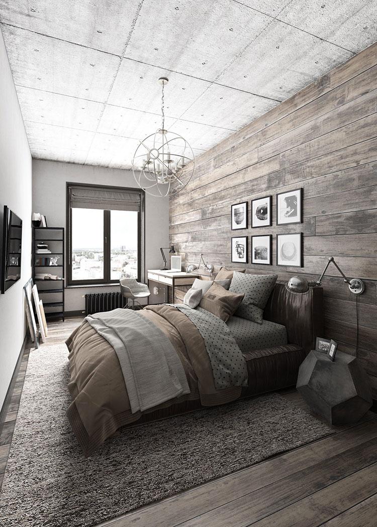 Come arredare una casa piccola in stile industriale - Camera da letto donatella ...