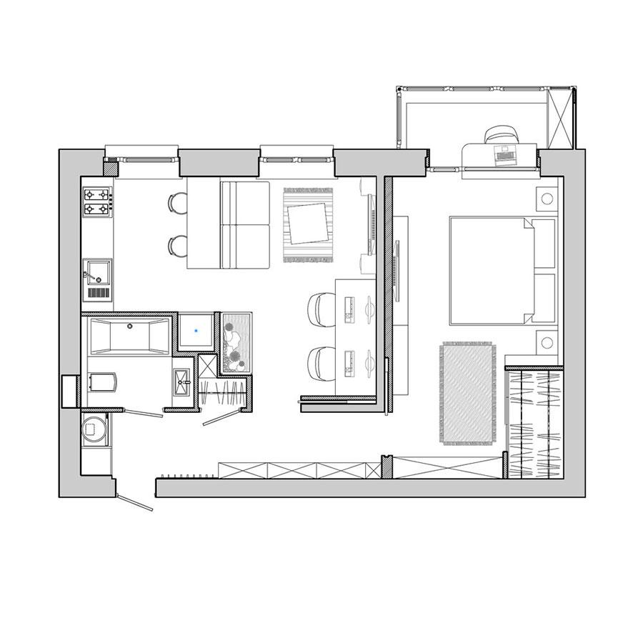 Idee per arredare una casa piccola in stile industriale n.19