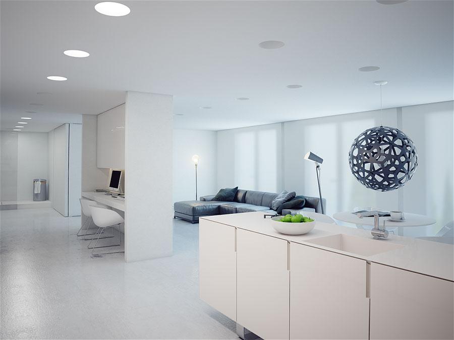 Idee per arredare una casa total white n.12