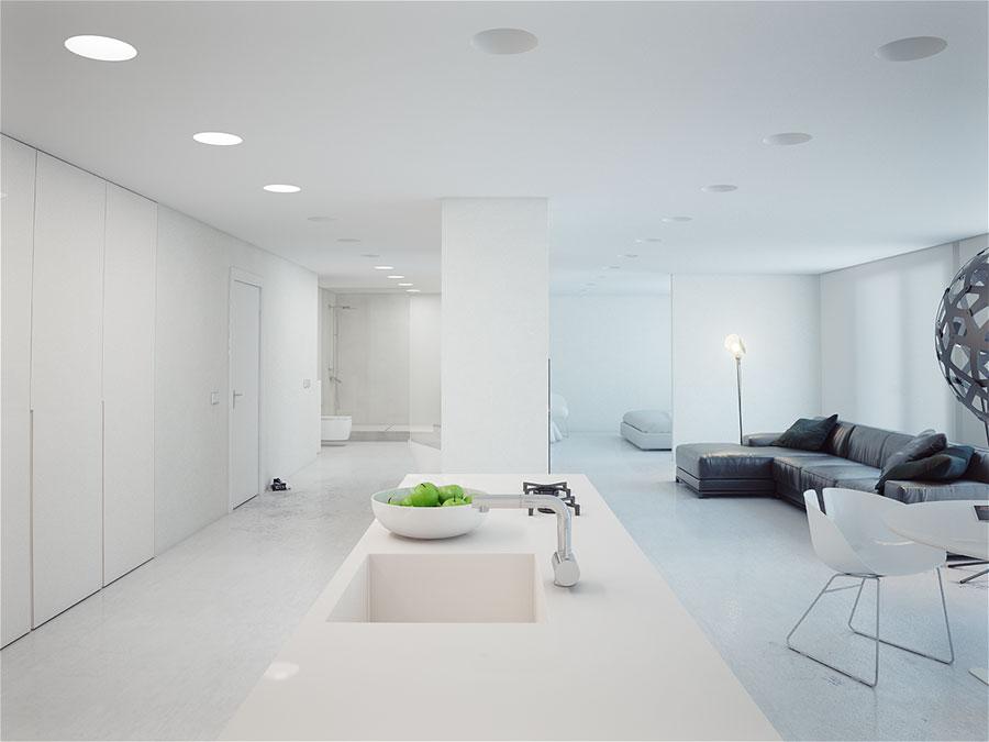 Idee per arredare una casa total white n.13