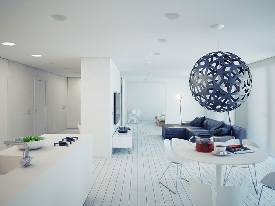 Idee per arredare una casa total white n.15