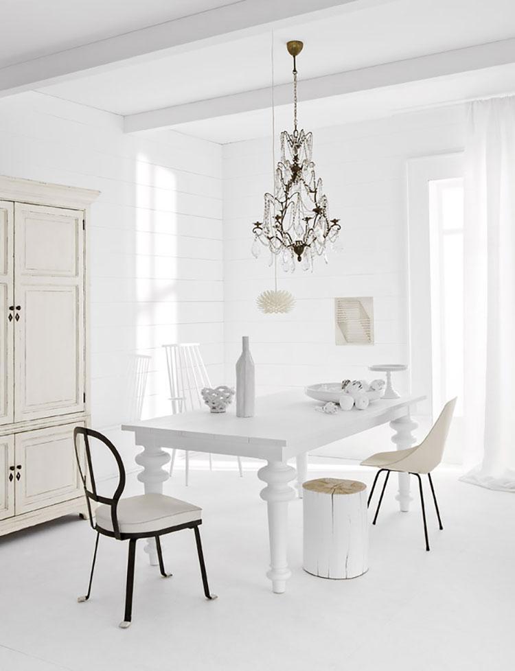 Idee per arredare una casa total white n.34