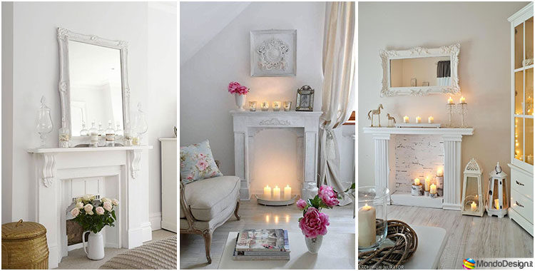 Camini Shabby Chic Ecco 40 Idee Originali E Decorative