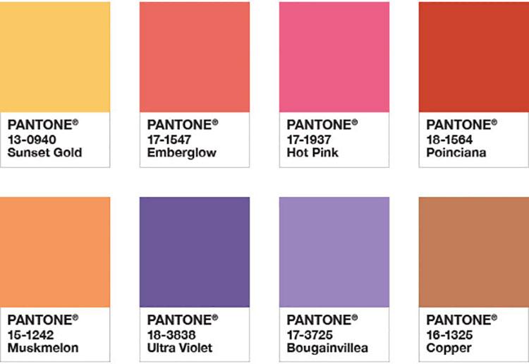 Abbinamenti di tendenza per pareti Pantone 2018 Desert Sunset