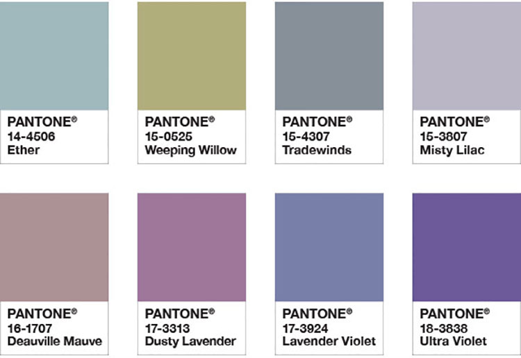 Abbinamenti di tendenza per pareti Pantone 2018 Purple Haze