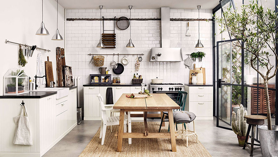Modello di cucina in stile vintage Ikea n.2