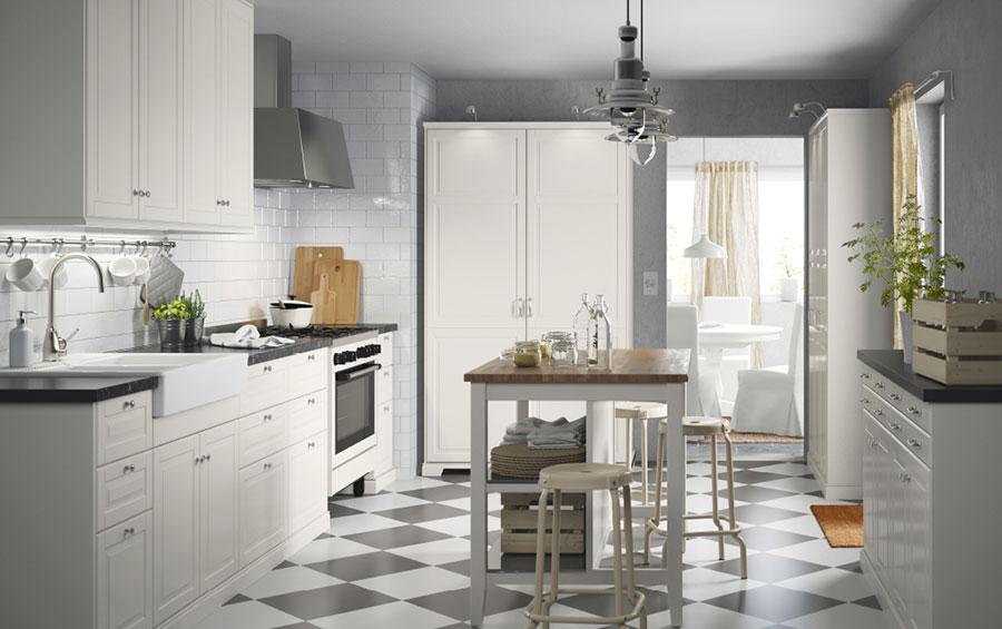 Modello di cucina in stile vintage Ikea n.8