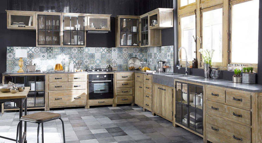 32 modelli di cucine vintage di varie marche. Black Bedroom Furniture Sets. Home Design Ideas