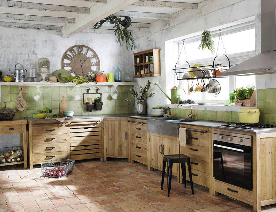 32 modelli di cucine vintage di varie marche. Black Bedroom Furniture Sets. Home Design Ideas