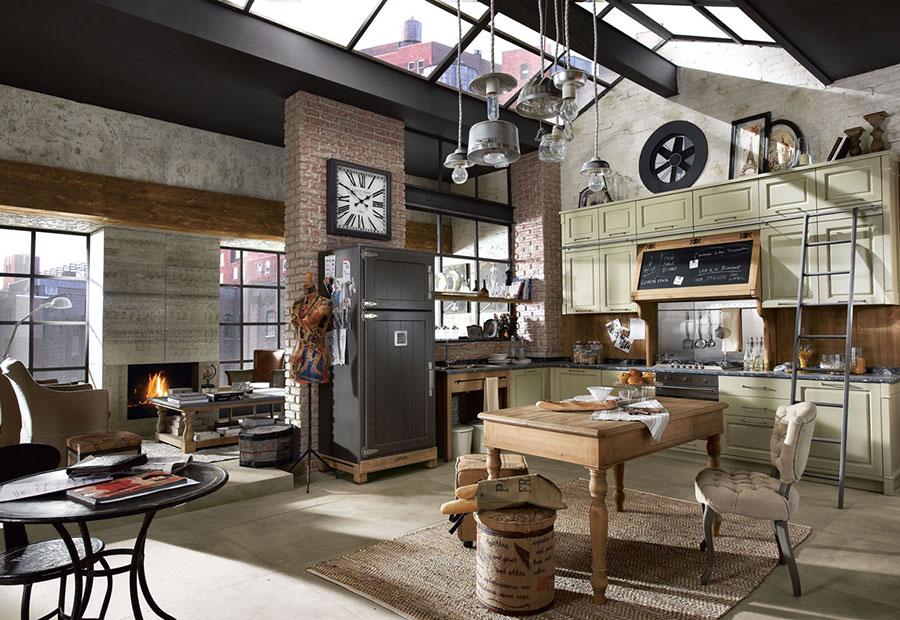 Modello di cucina in stile vintage Marchi n.1