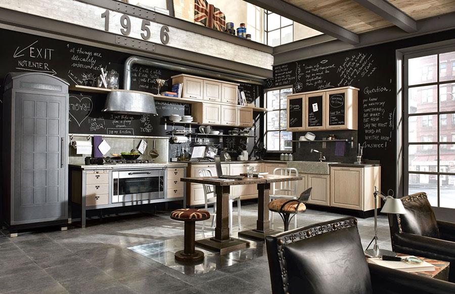 Modello di cucina in stile vintage Marchi n.2