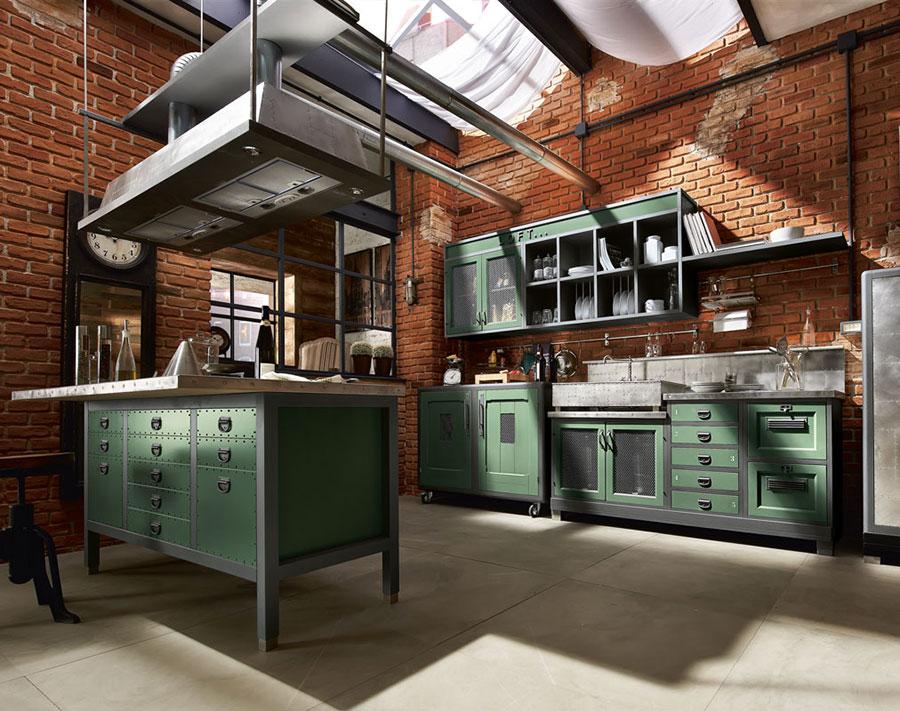 Modello di cucina in stile vintage Marchi n.3