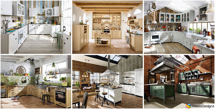 32 modelli di cucine vintage di varie marche - Marche di cucine ...