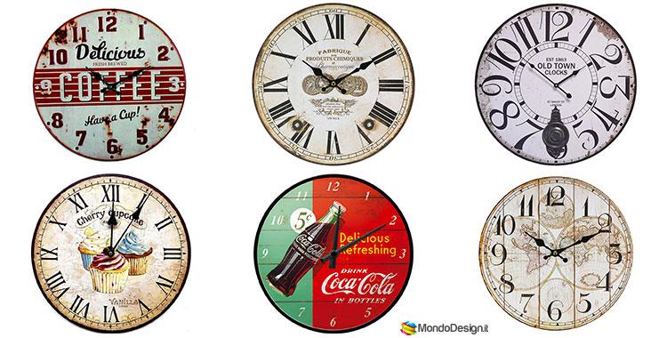 Orologi da parete vintage tanti modelli originali da for Orologi arredamento design