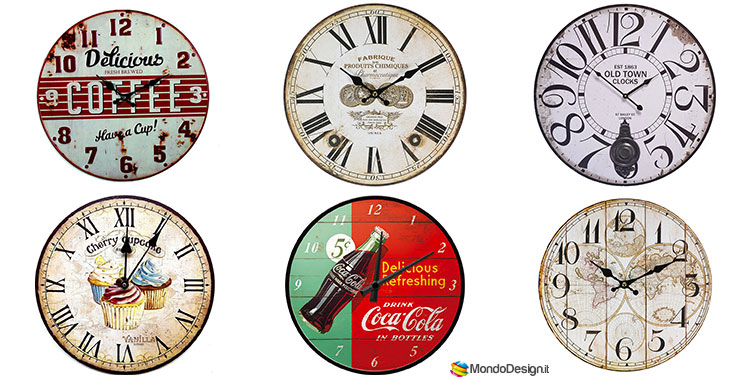 Orologi da parete vintage tanti modelli originali da - Orologi classici da parete ...