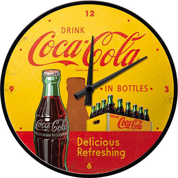 Modello di orologio da parete vintage Coca-cola n.1