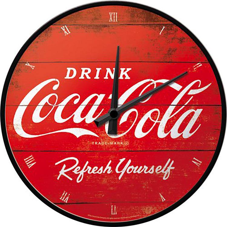 Modello di orologio da parete vintage Coca-cola n.3
