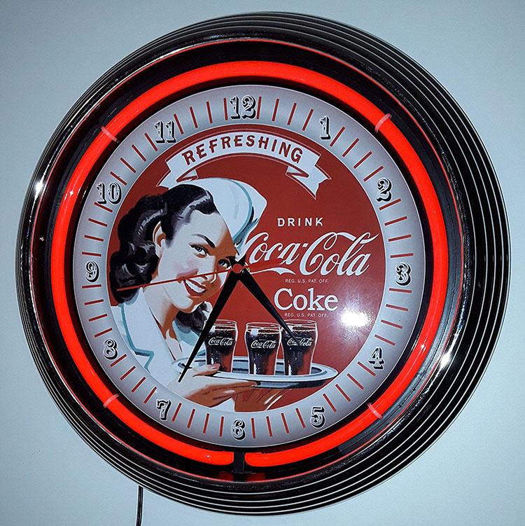Modello di orologio da parete vintage Coca-cola n.4