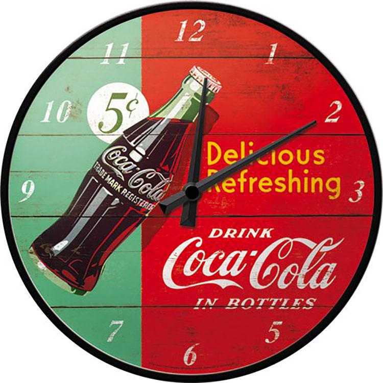 Modello di orologio da parete vintage Coca-cola n.5