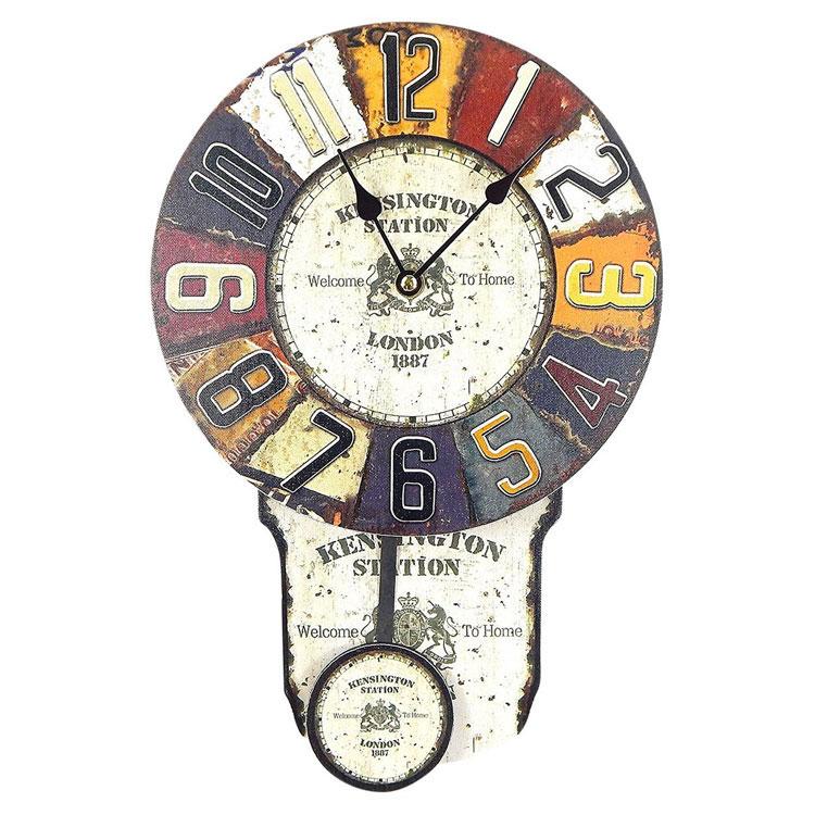 Modello di orologio da parete vintage a pendolo n.1
