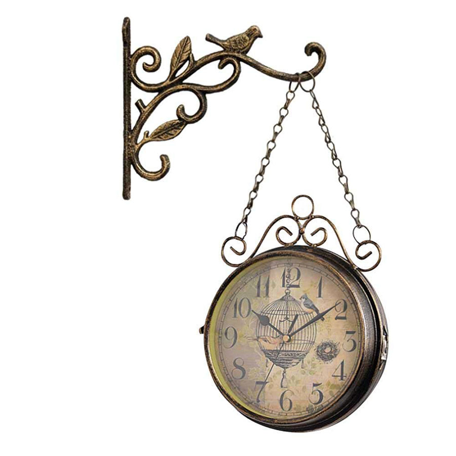 Modello di orologio da parete vintage da stazione 2