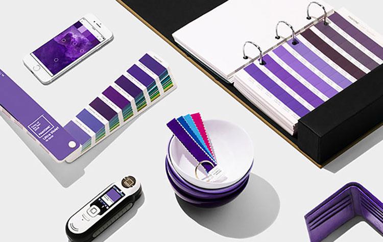 Palette colori Pantone per Ultra Violet 2018