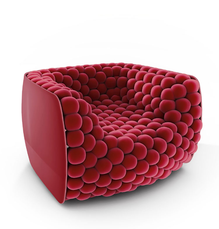 Poltrona di design Blueberry Armchair di Carlo Colombo