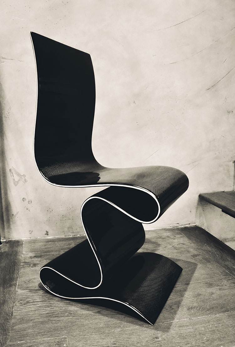 Poltrona Carbon Chair di Ventury Labs