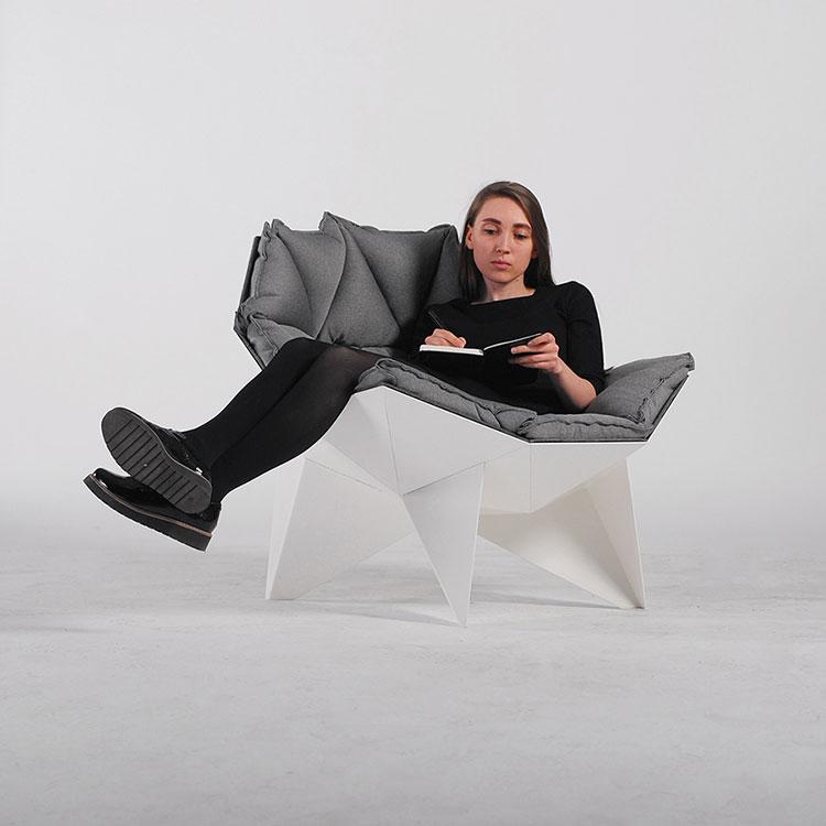 Poltrona Q1 lounge chair di OdesD2