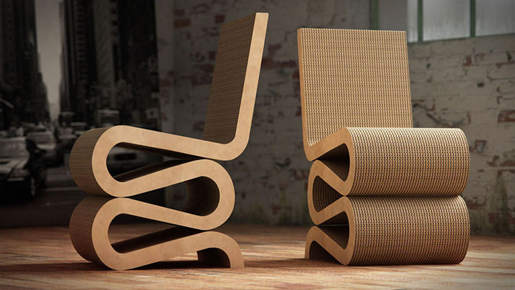 Poltrona Wiggle Side Chair di Frank Gehry