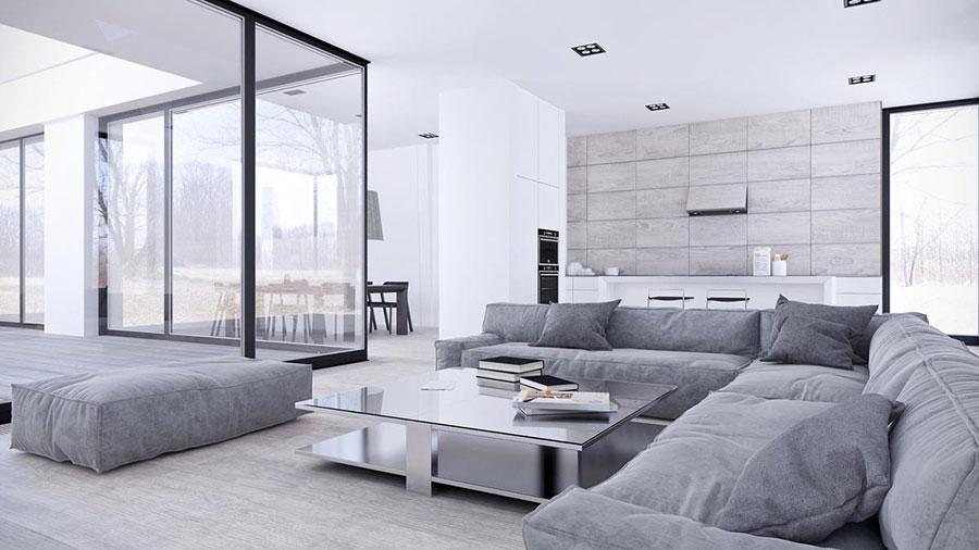 Idee per arredare casa con il bianco e il grigio n.01
