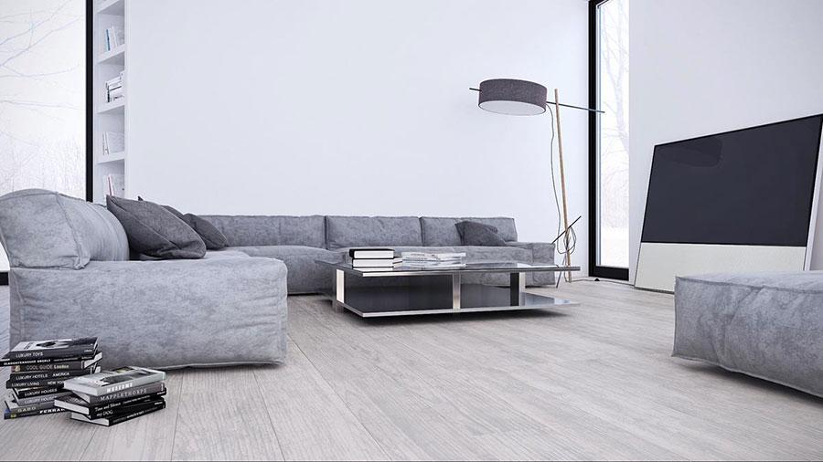 Idee per arredare casa con il bianco e il grigio n.02