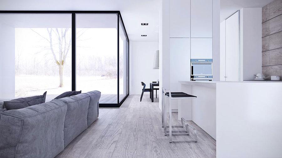 Idee per arredare casa con il bianco e il grigio n.03