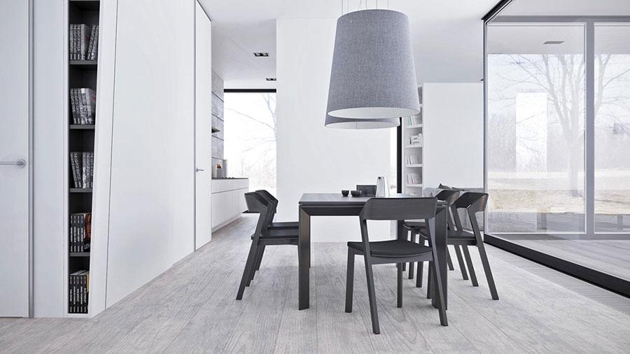 Idee per arredare casa con il bianco e il grigio n.04