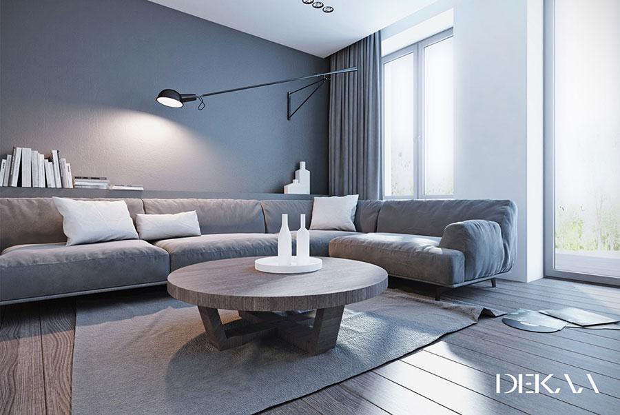 Arredamento bianco e grigio tante idee per una casa di for Arredamento moderno ma caldo
