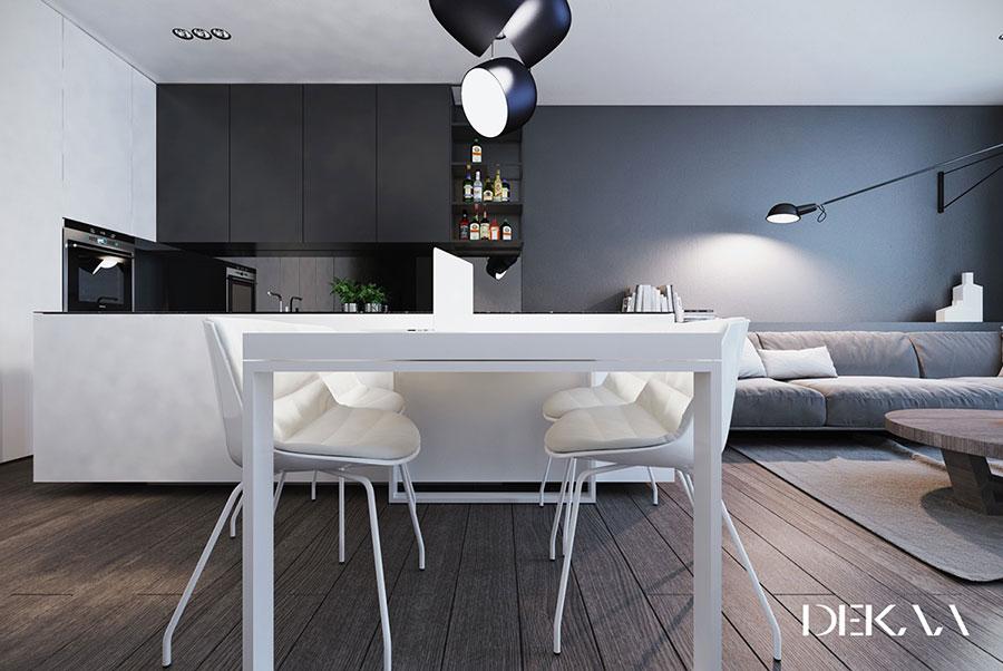 Idee per arredare casa con il bianco e il grigio n.10