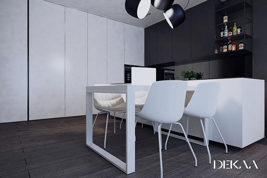 Idee per arredare casa con il bianco e il grigio n.11