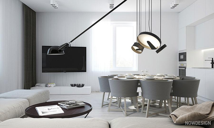 Idee per arredare casa con il bianco e il grigio n.13