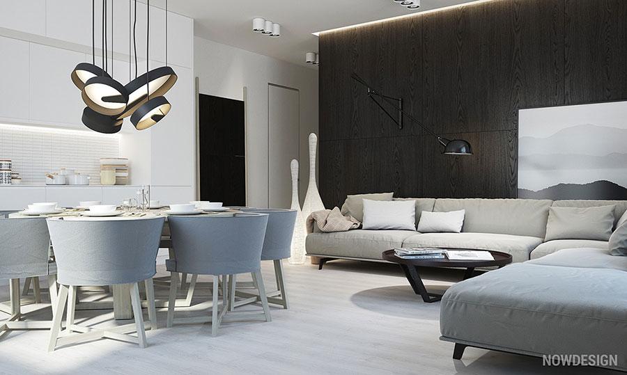 Idee per arredare casa con il bianco e il grigio n.14