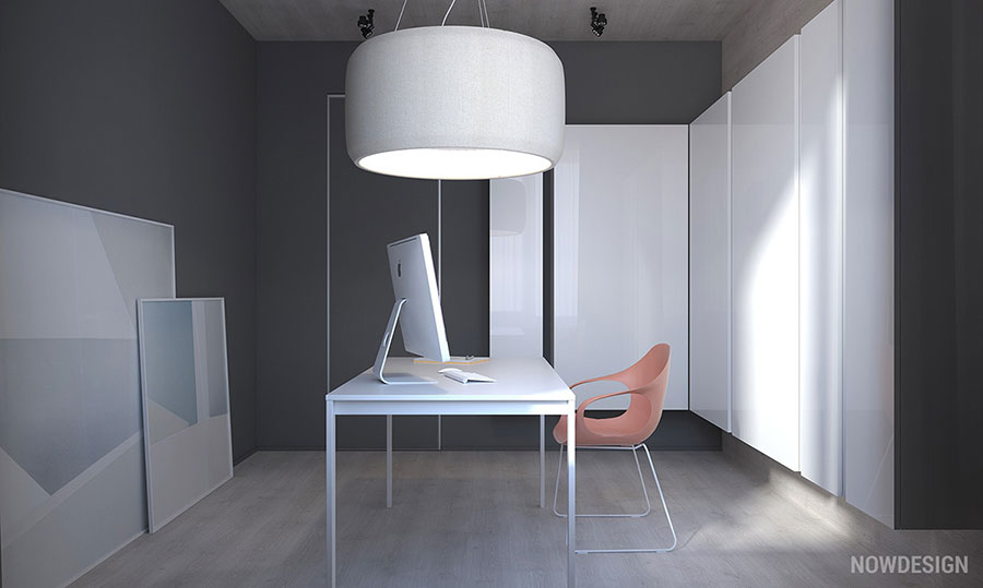 Idee per arredare casa con il bianco e il grigio n.16