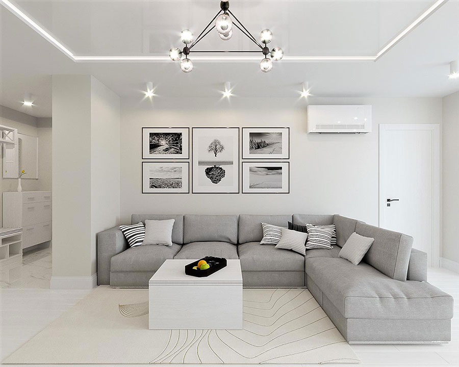 Idee per arredare casa con il bianco e il grigio n.18