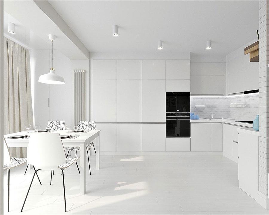 Idee per arredare casa con il bianco e il grigio n.20